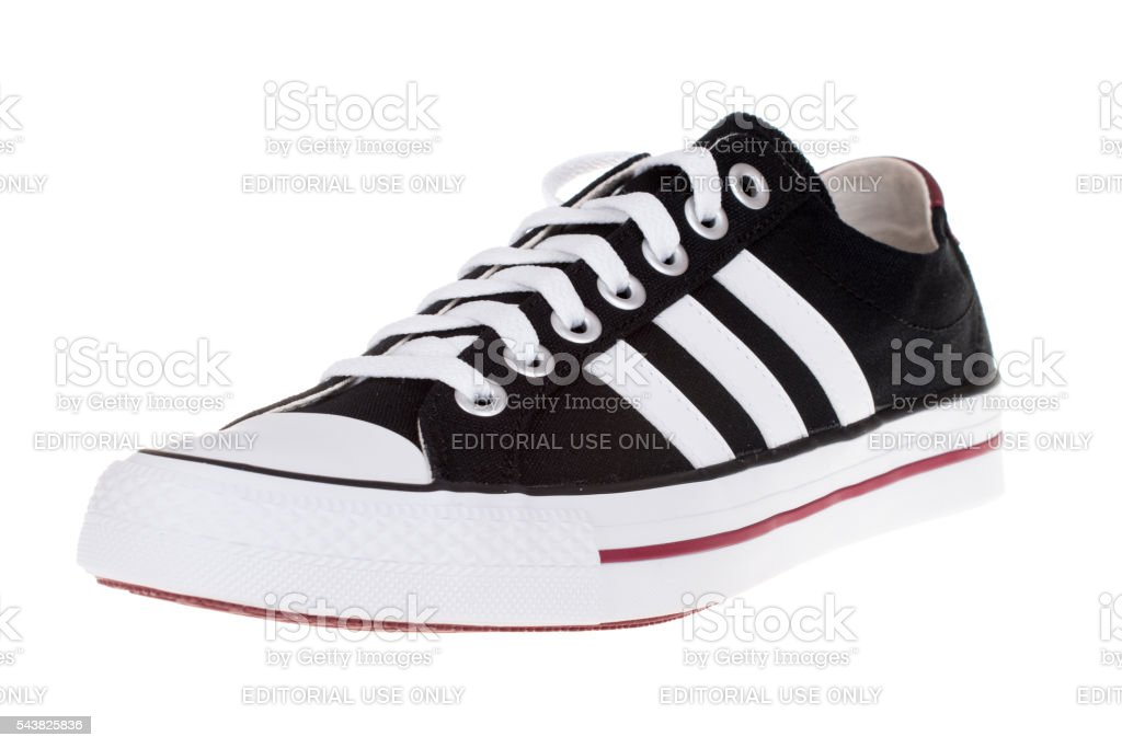 ADIDAS VLNEO 3 STRIPES shoe. Isolated on white. Product shots stock photo