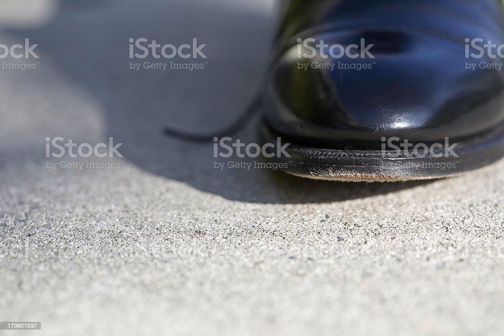Shoe Leather royalty-free stock photo