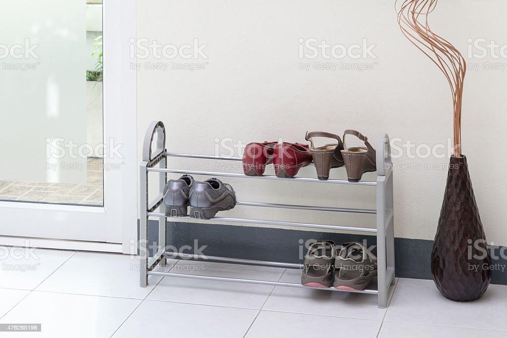 shoe shelf stock photo
