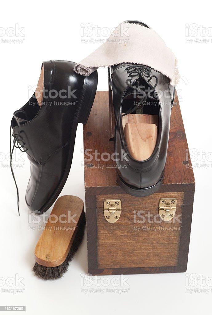 Shoe Shine Kit stock photo