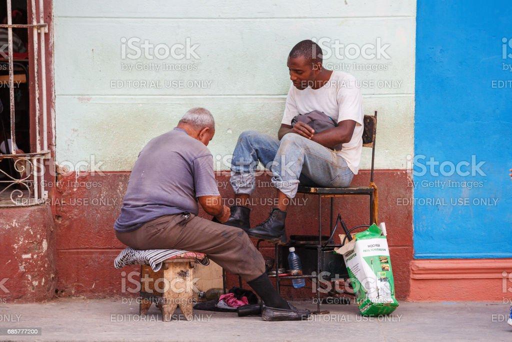 Chaussure shiner photo libre de droits