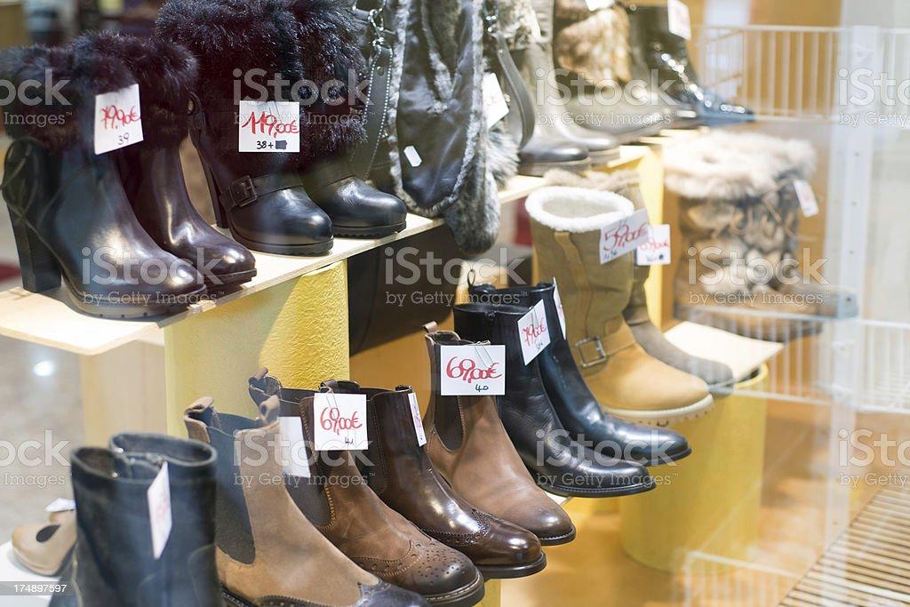 Shoe shop window royalty-free stock photo