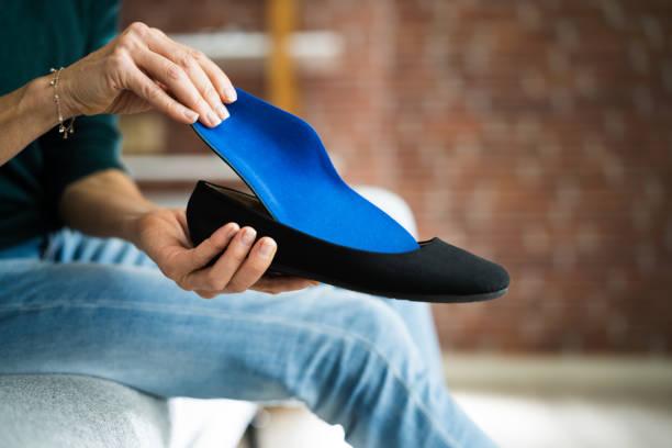 Shoe Sole In Footwear For Healthy Foot stock photo