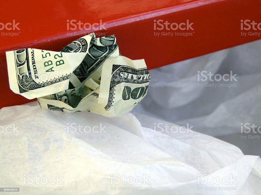 Shoebox and Money royalty-free stock photo