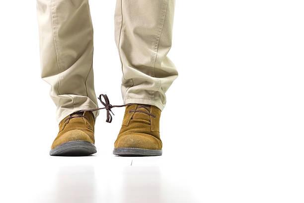 Shoelaces vinculados - foto de stock