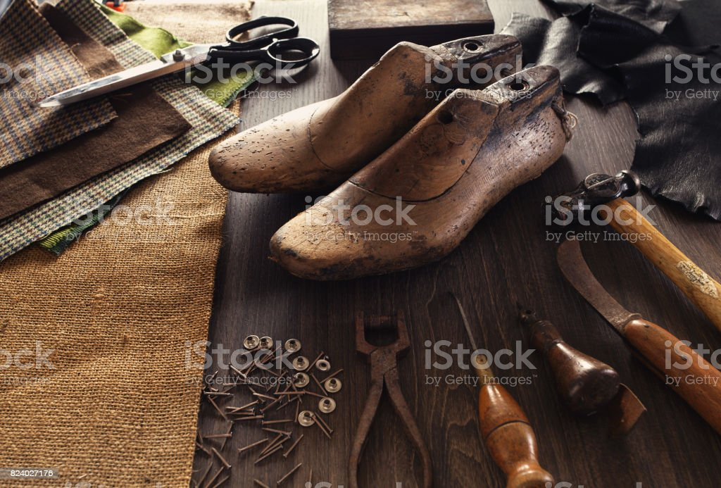 shoemaker stock photo