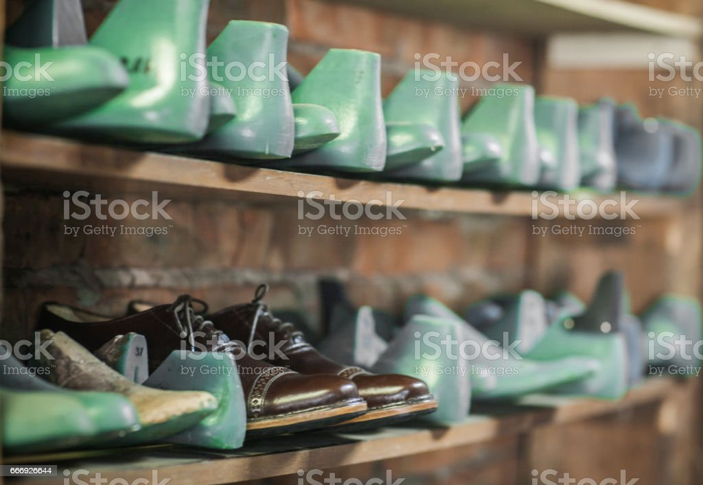 Shoemaking Process Stock Photo - Download Image Now