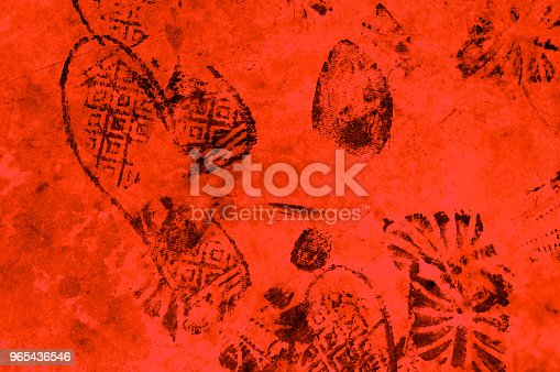 istock Shoeprints texture background. Imprint surface boot. Many steps. For design idea concept. 965436546