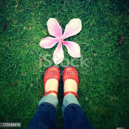 istock Shoes and a flower 172433415