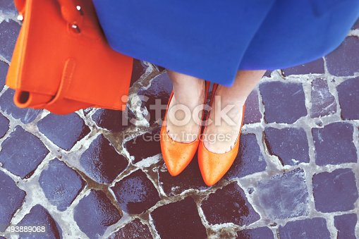 istock Shoes and bag 493889068