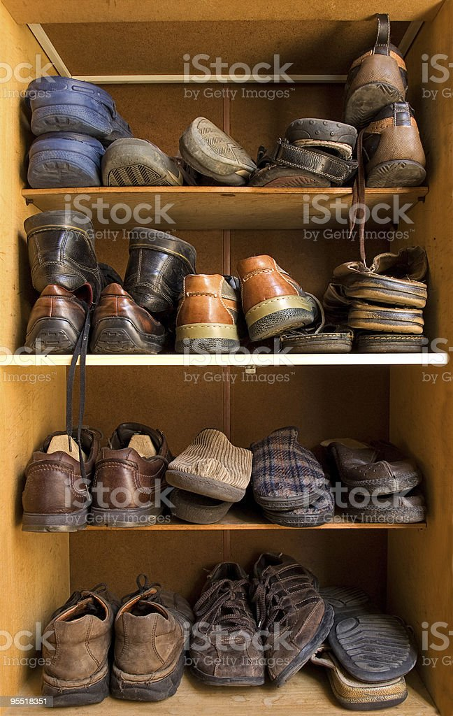 Shoes box stock photo