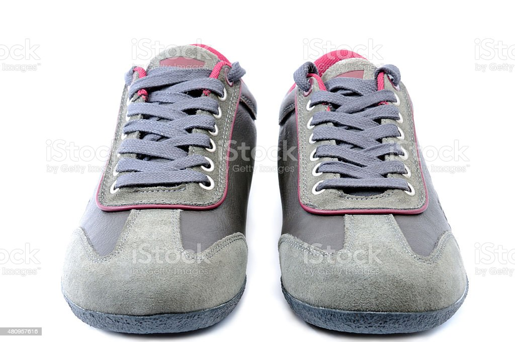 Shoes boy stock photo