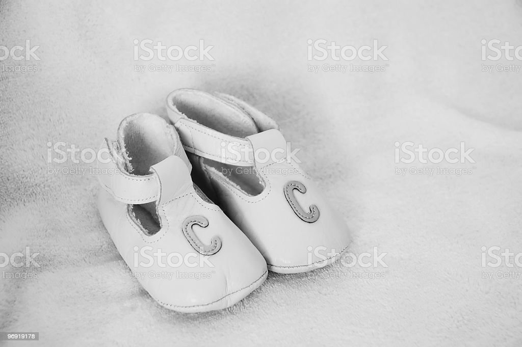 Shoes BW royalty-free stock photo
