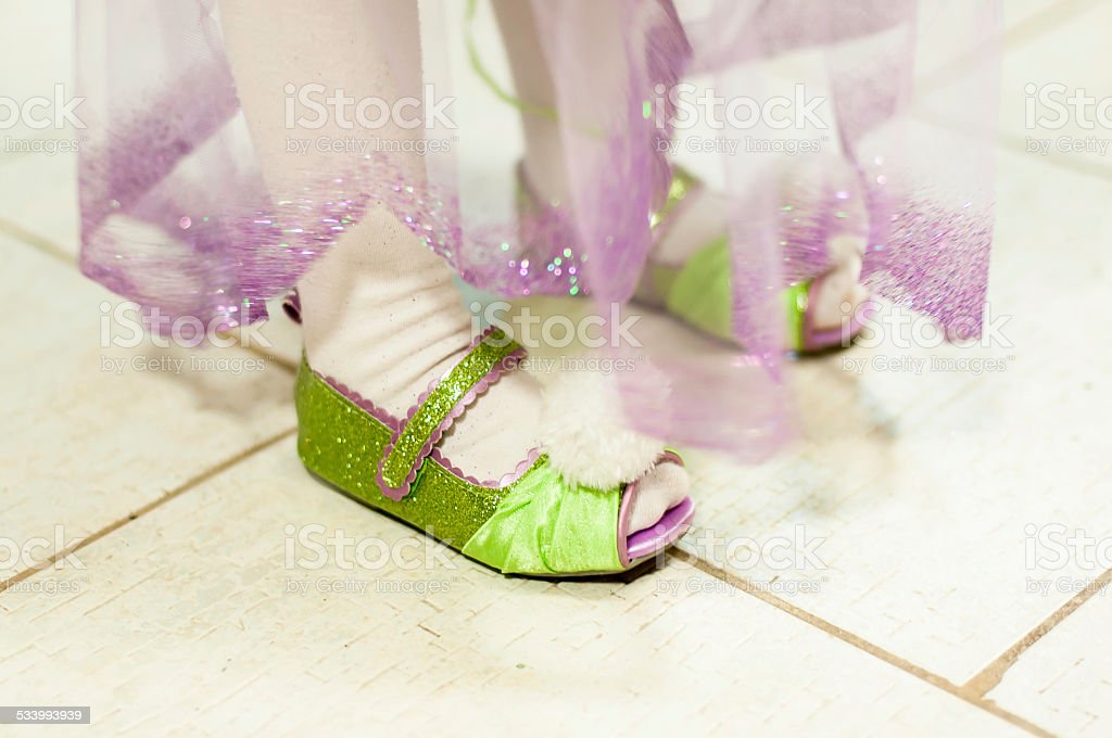 Shoes carnival costume stock photo