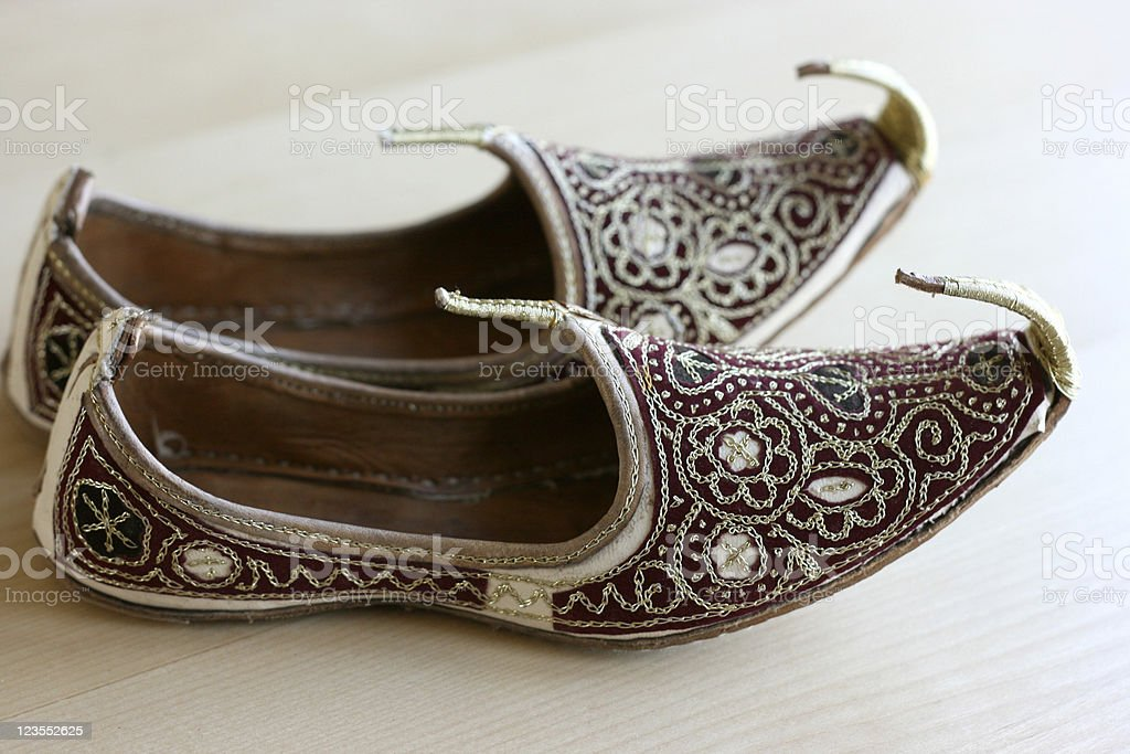 Shoes from Dubai royalty-free stock photo