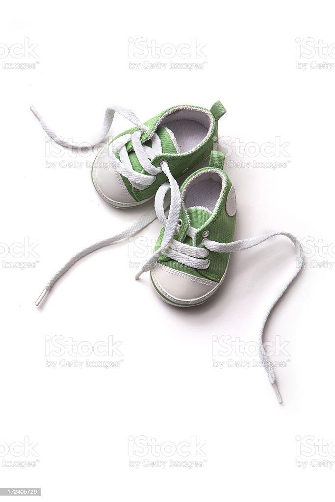 Shoes: Green Baby Shoe stock photo