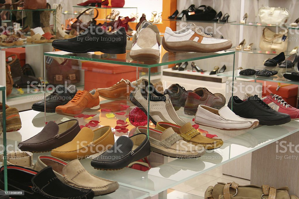 shoes in a shoe store royalty-free stock photo