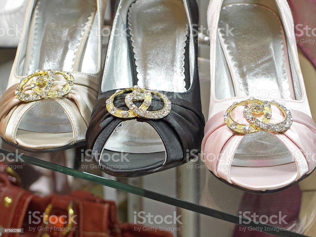 Chaussures en magasin photo libre de droits