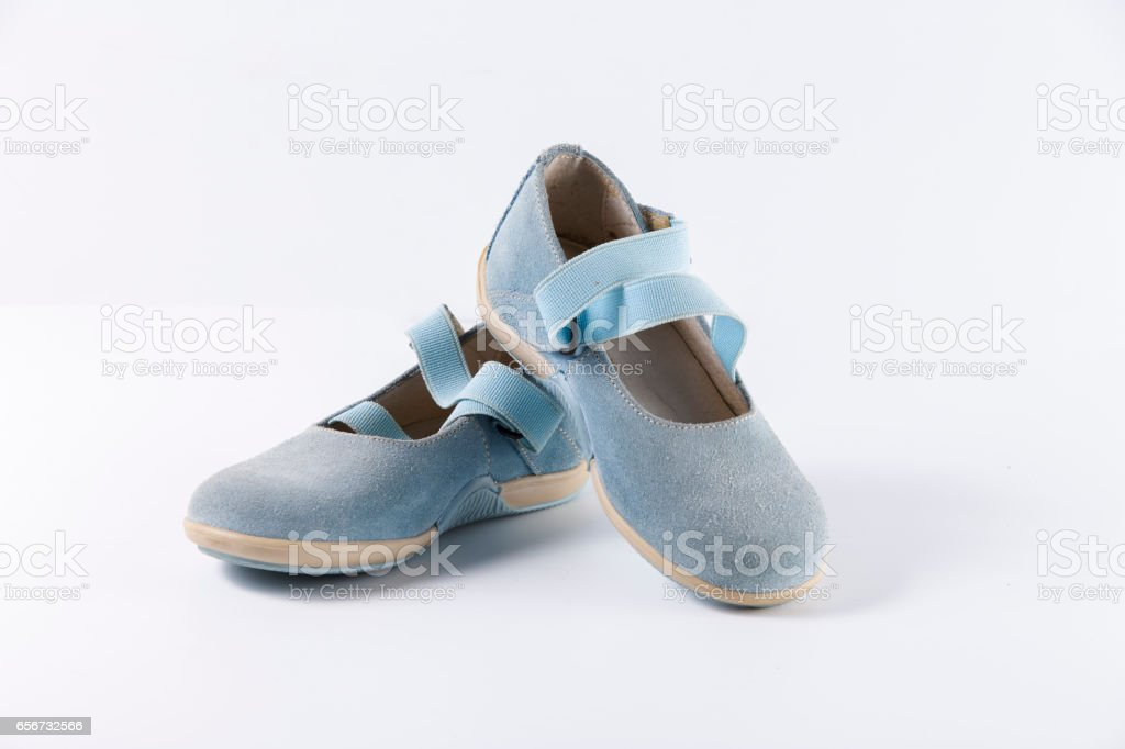 Shoes Leather Children Colors stock photo