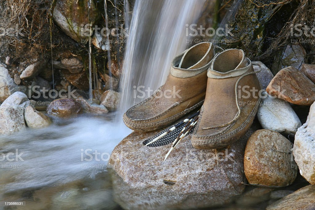 shoes made for walking stock photo