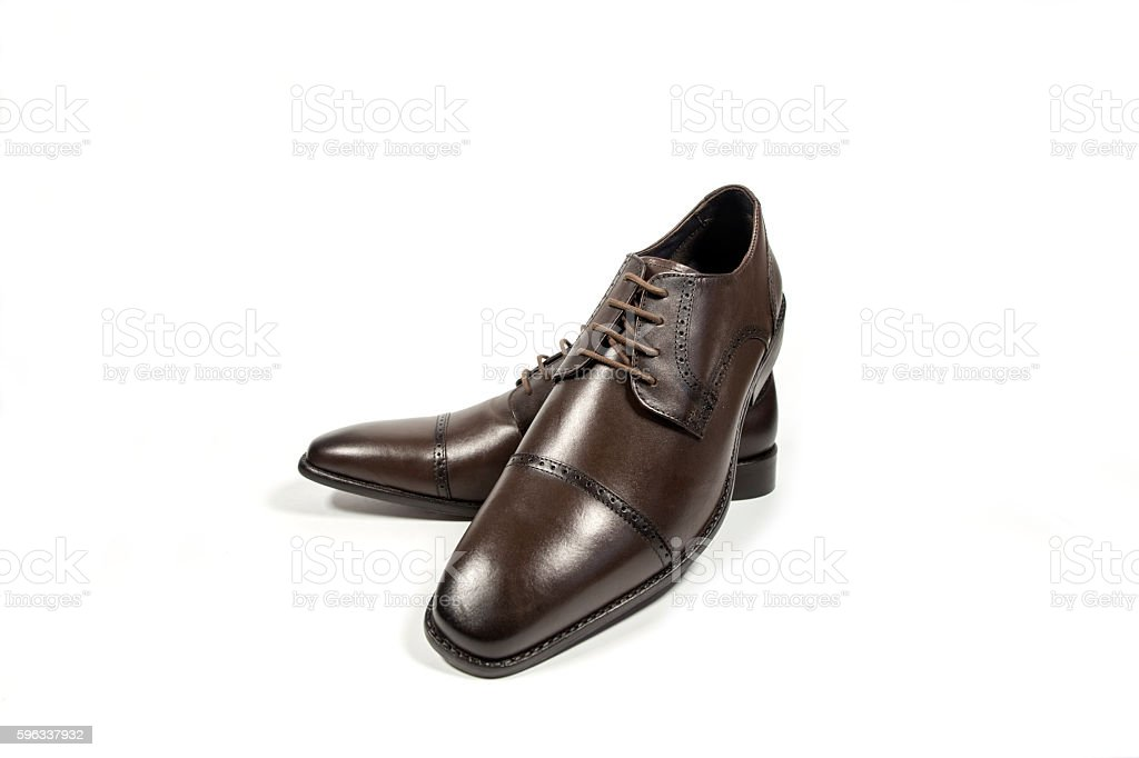shoes mens brown. royalty-free stock photo
