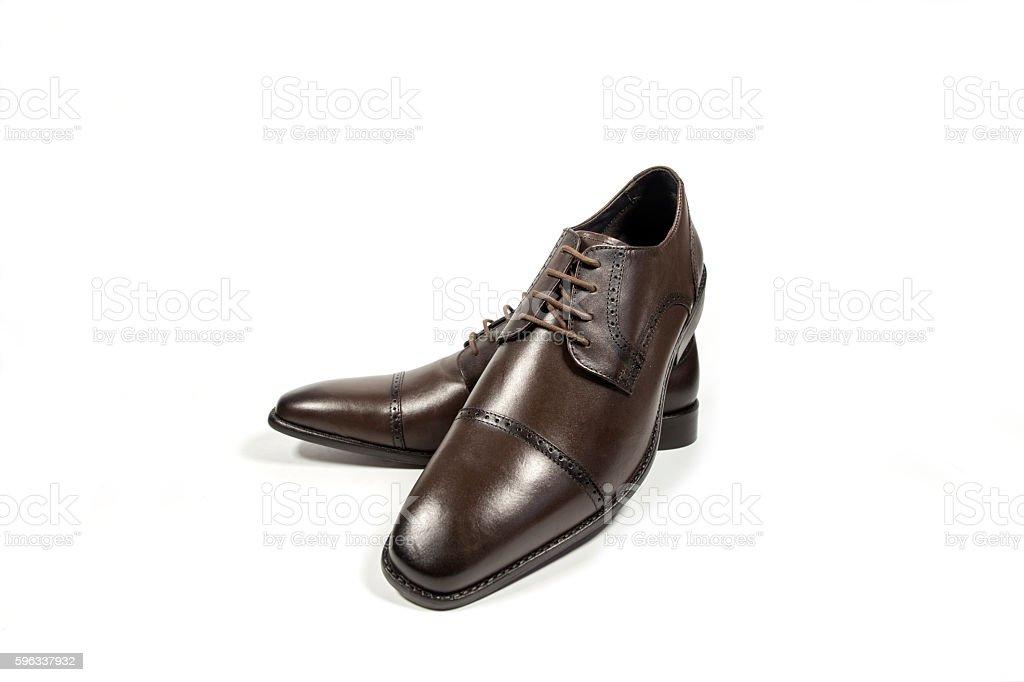 shoes mens brown. Lizenzfreies stock-foto