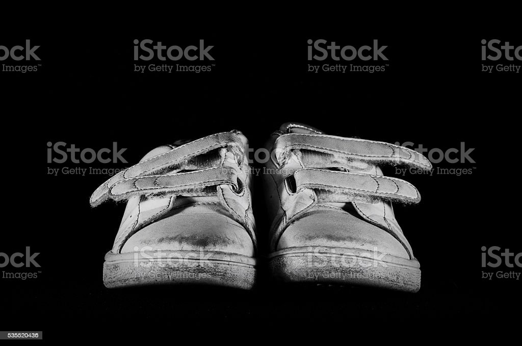 shoes on a black background stock photo
