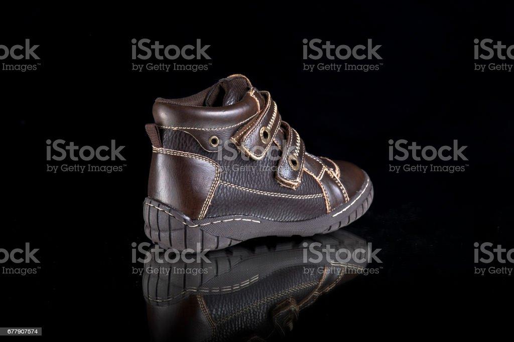 Shoes on Black Background, Isolated Product royalty-free stock photo
