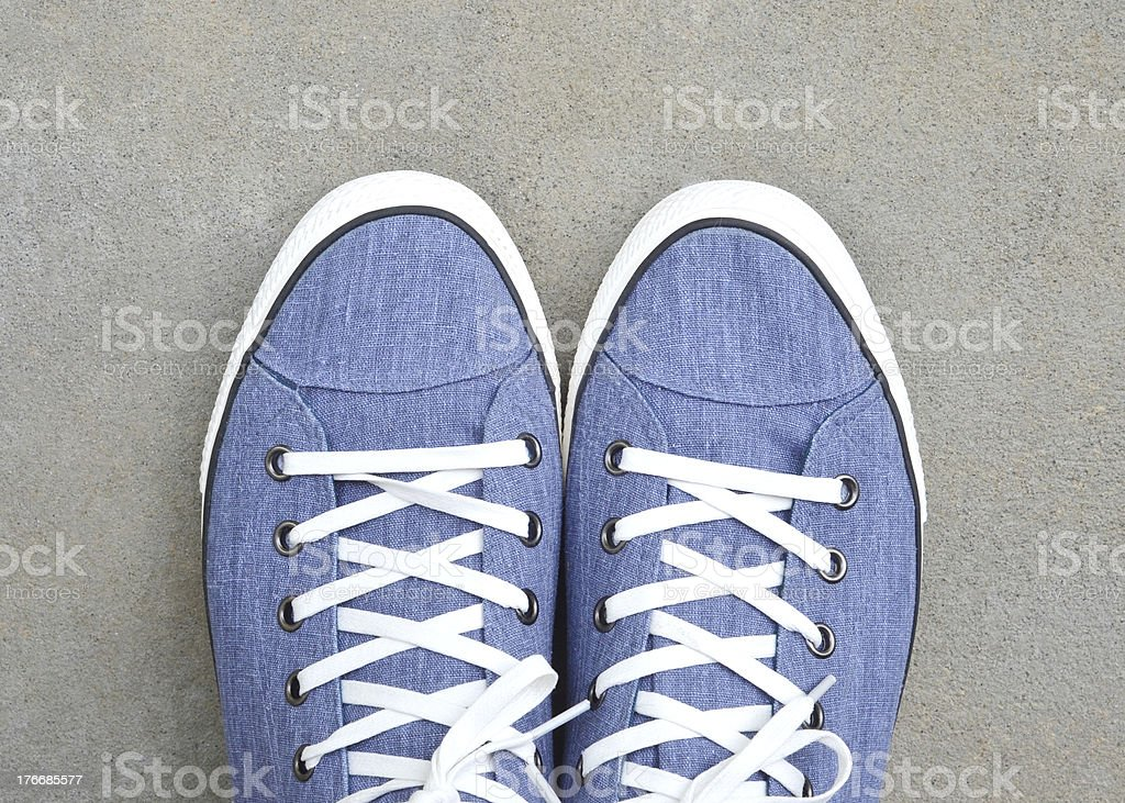 Shoes on the Sidewalk royalty-free stock photo