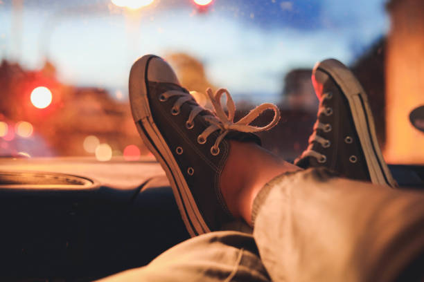 shoes Car traveling. all star stock pictures, royalty-free photos & images