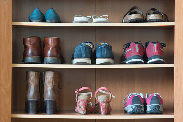 b16ee616d25 Best Shoe Rack Stock Photos, Pictures & Royalty-Free Images - iStock