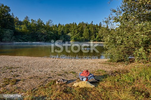 Morning swim at the small lake Koglweiher