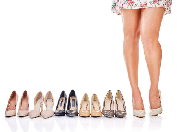 Shoes speak louder than words stock photo