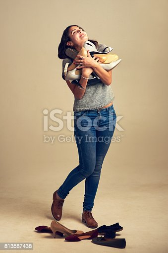 istock Shoes will always be my first love 813587438