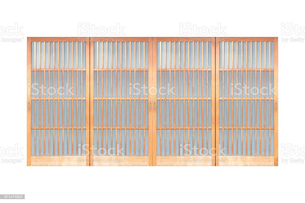 Shoji , Japanese slide open door , window or room divider stock photo
