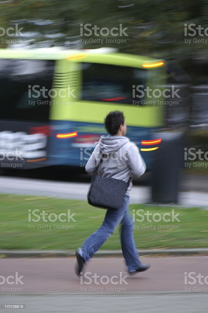 shoot, missed my bus stock photo