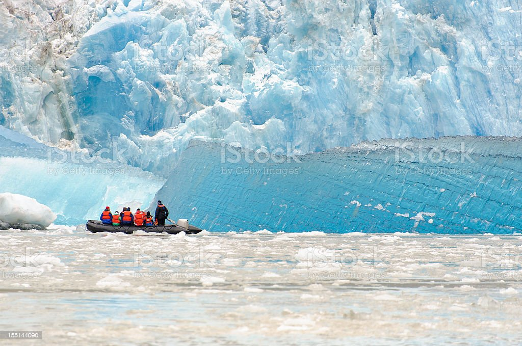 Shooter Icebergs get their deep blue color from being compacted at...