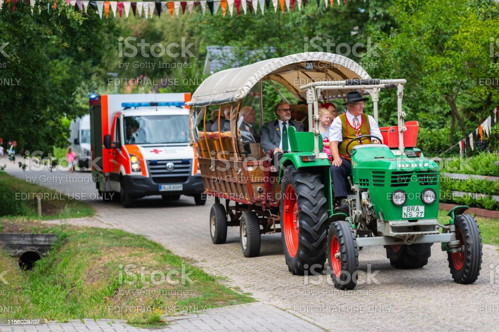 Hude, Lower Saxony, Germany, August 04,2019: The relocation of...