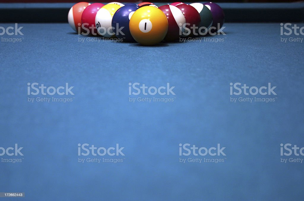 pool table felt and rack