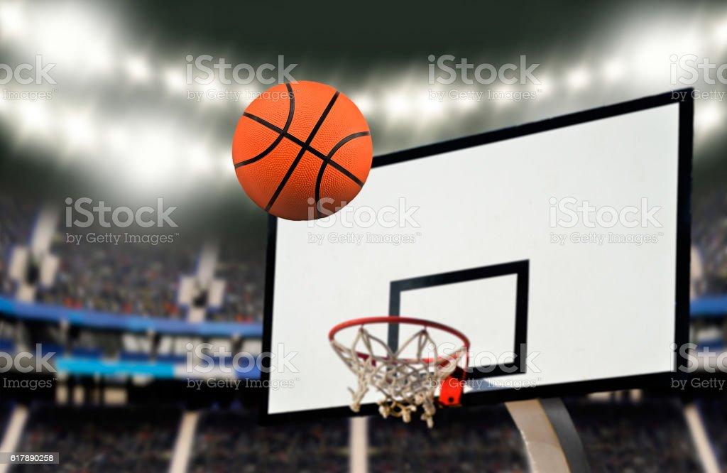 shooting a basketball goal stock photo