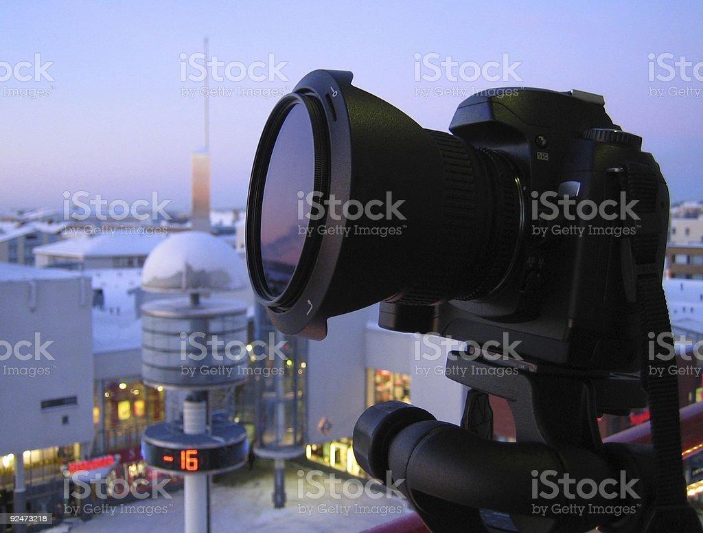 shooting at -16 degree royalty-free stock photo