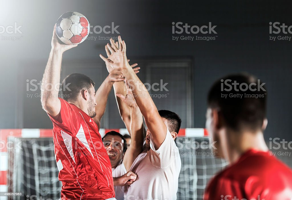 Shooting at goal. stock photo