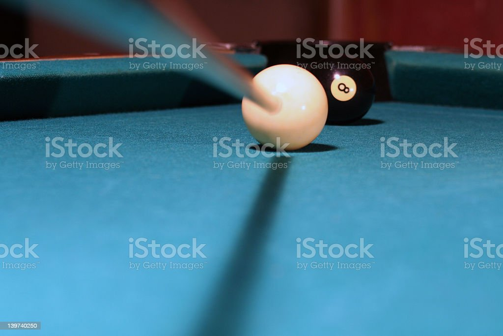 shooting at the eight ball stock photo