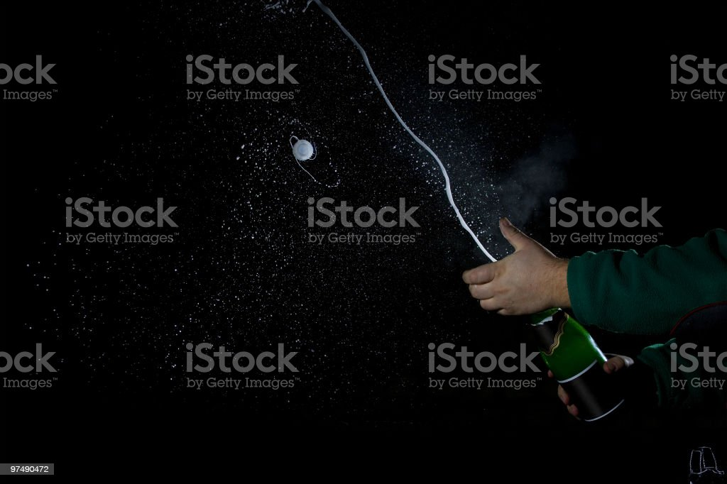 Shooting champagne royalty-free stock photo