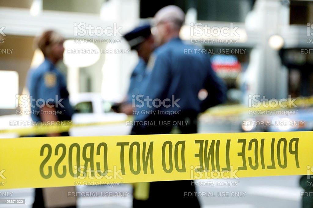 Shooting Crime Scene royalty-free stock photo