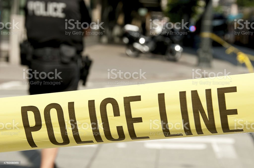 Shooting Crime Scene royalty-free stock photo