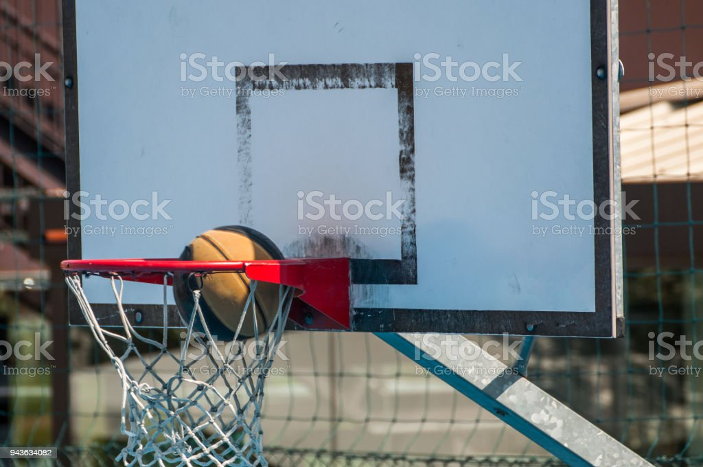 Shooting for the basket stock photo