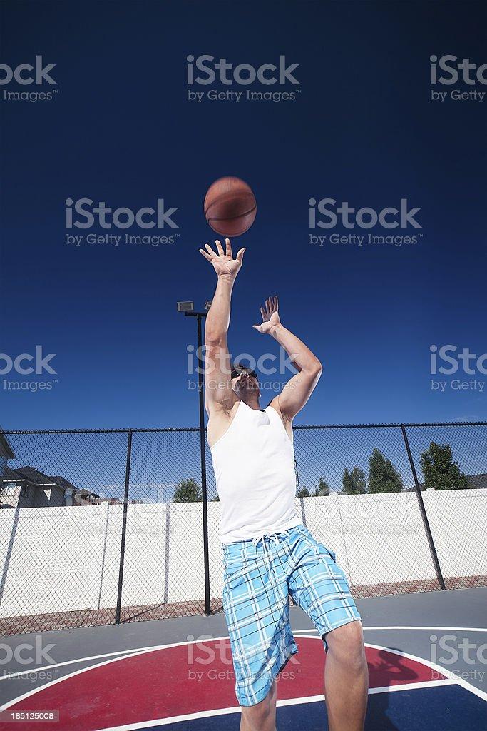 Shooting Hoops royalty-free stock photo