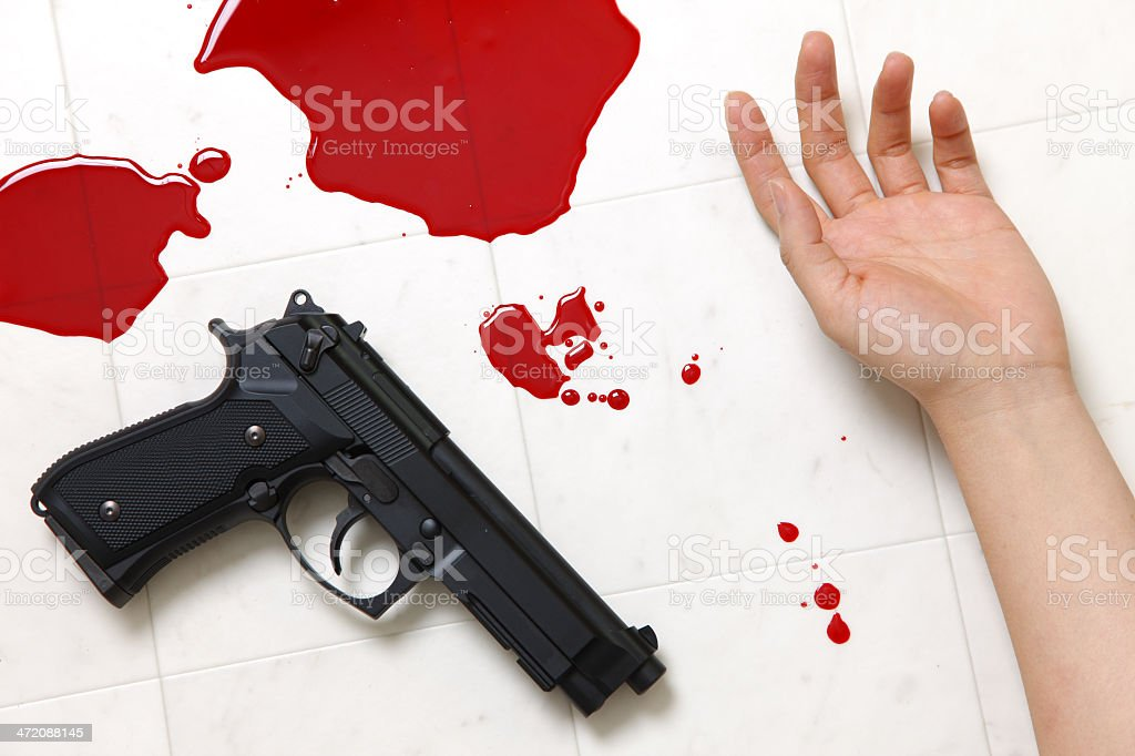 Shooting Incident stock photo
