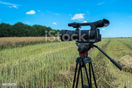 istock shooting of a reportage on agrarian subjects with the help of modern video cameras 994294232